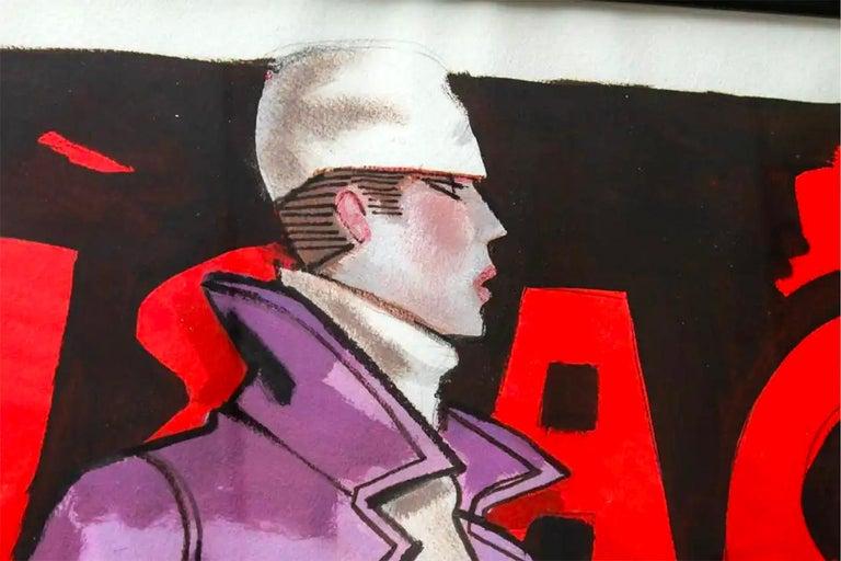 Issac Mizrahi illustration - Modern Art by Michaele Vollbracht