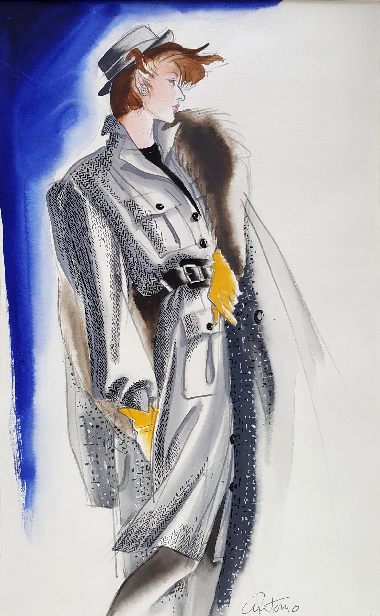 Vogue Magazine, Elegant Fashion Illustration for Adel Simpson