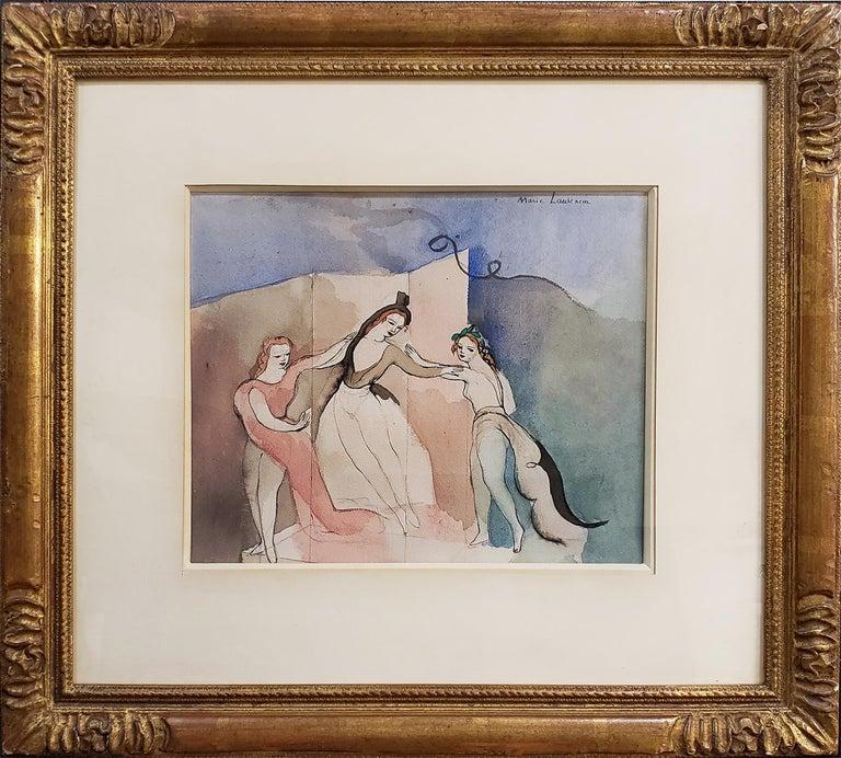 Trois Danseur, Three Dancers - Surrealist Art by Marie Laurencin