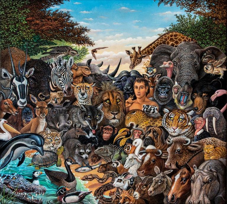 Animal Kingdom, Zebra, Buffalo, Lion, Giraffe, Elephant, Monkey, Tiger,  Gorilla For Sale 1