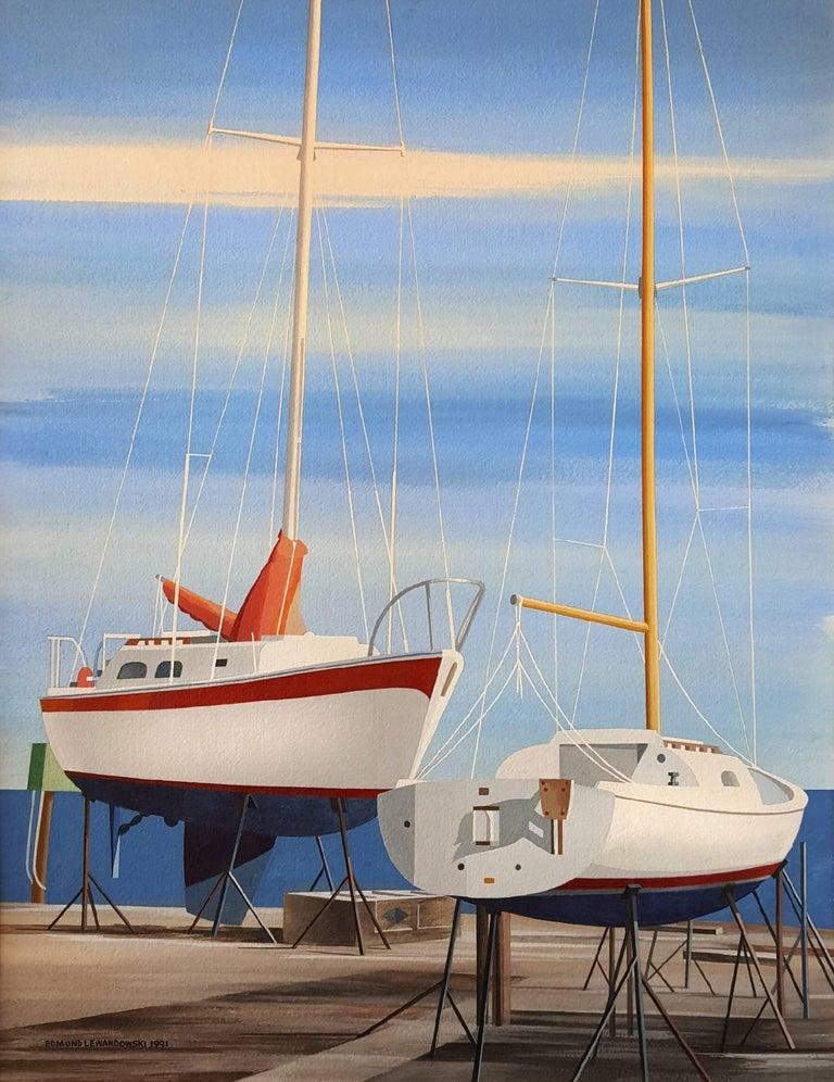 Edmund Lewandowski Landscape Art - Sail Boats