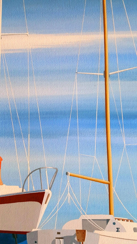 Sail Boats - Photorealist Art by Edmund Lewandowski