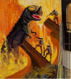 Godzilla like Dinosaur Monster, SciFi, Science Fiction Cover Illustration