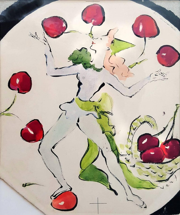 Marcel Vertès Figurative Art - Cherry Dancer