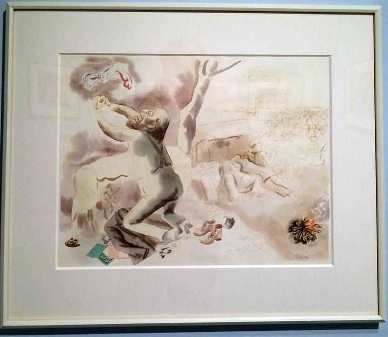 Christus am Oelberg - Christ on the Mount of Olives - Dada Art by George Grosz