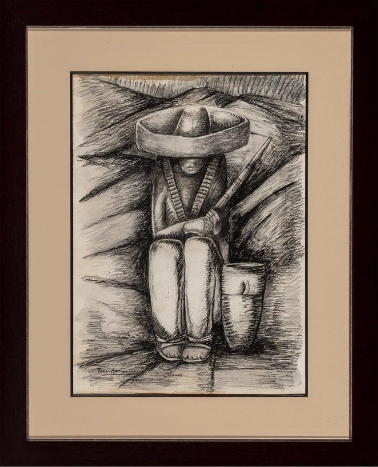 Zapatista Asentado - Art by Alfredo Ramos Martinez