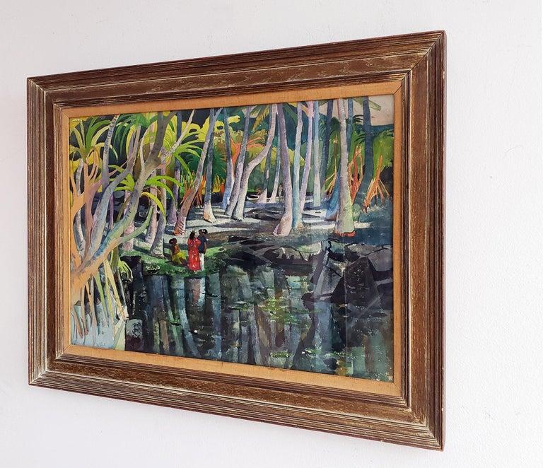 Pool Shadows - like Paul Gauguin Tahitian Women For Sale 3