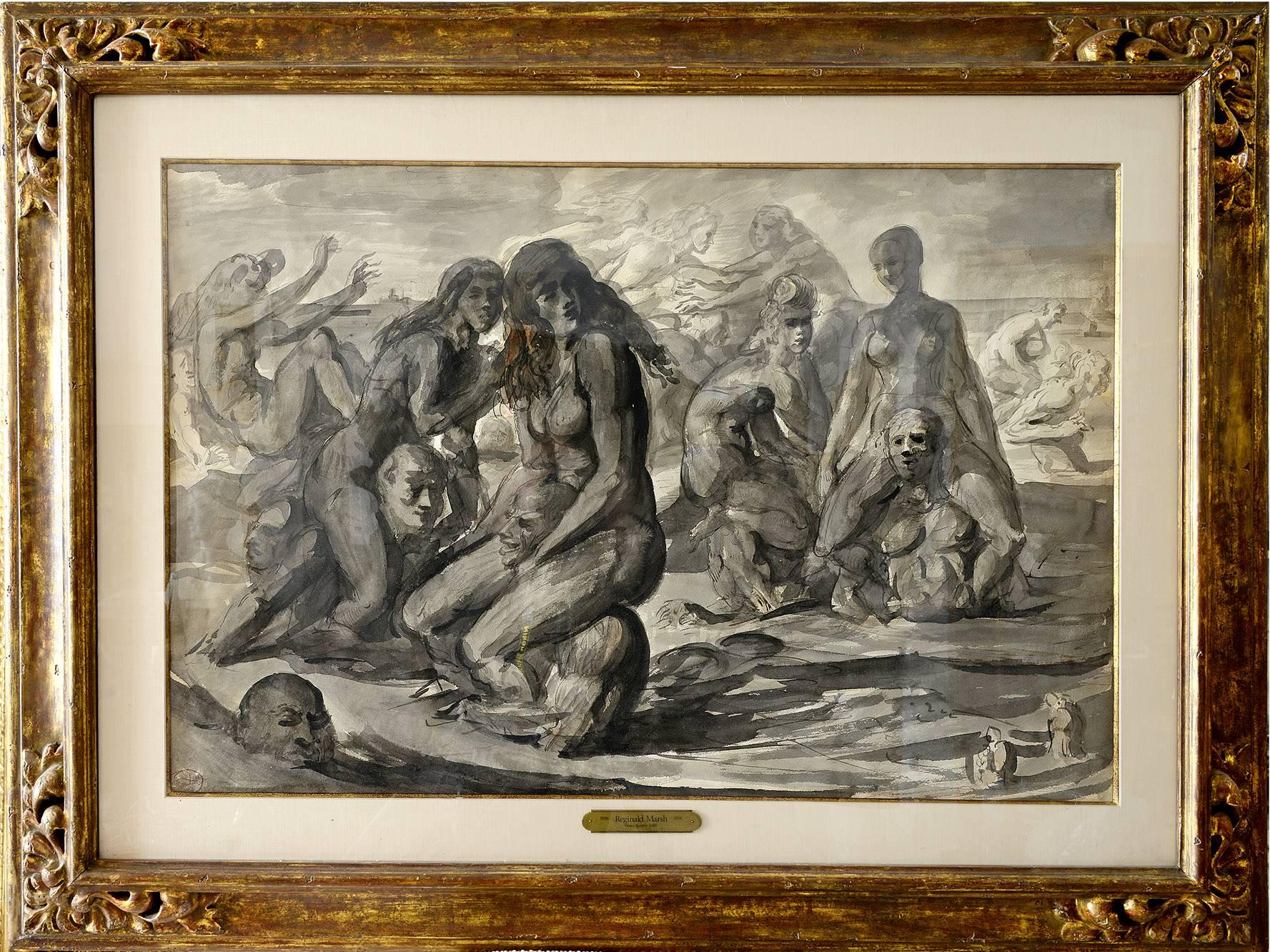 Water Sports - Nude Swimmers and Bathers at Coney Island - Double-Sided