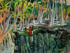 Pool Shadows - like Paul Gauguin Tahitian Women