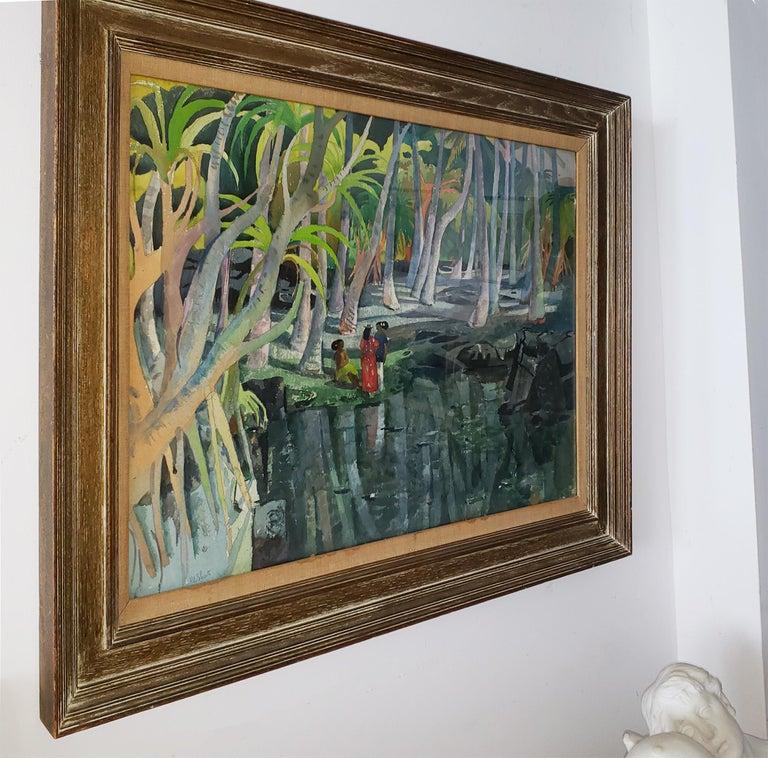 Pool Shadows - like Paul Gauguin Tahitian Women 1