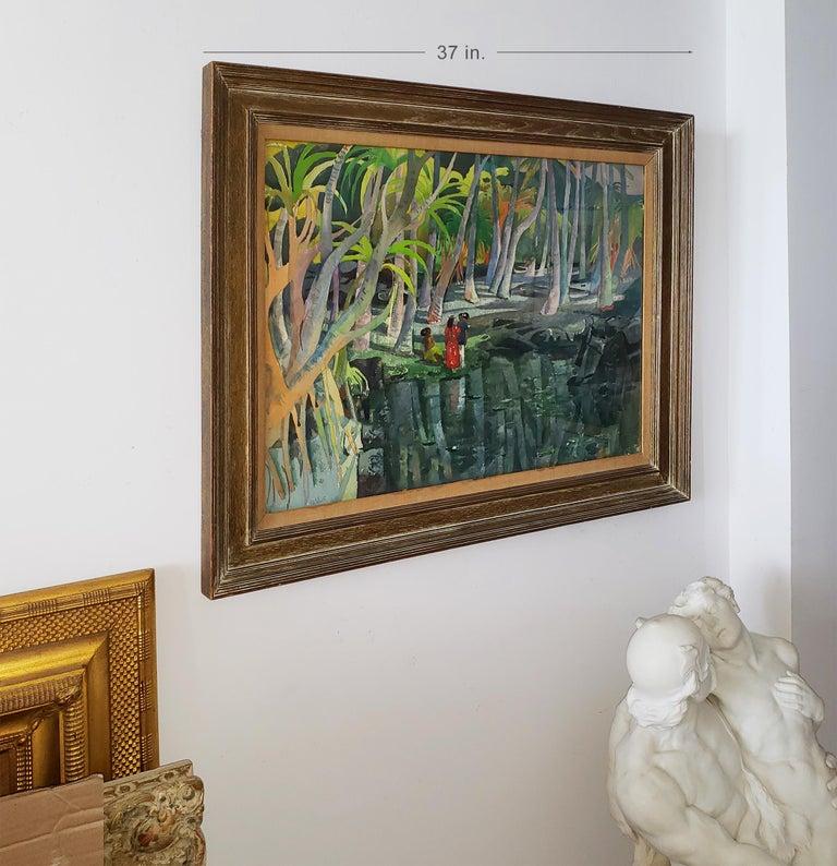 Pool Shadows - like Paul Gauguin Tahitian Women 2
