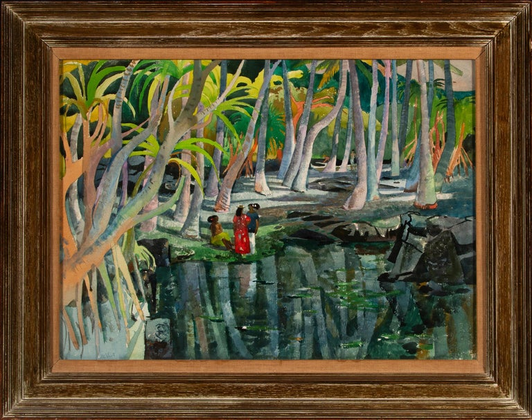 Pool Shadows - like Paul Gauguin Tahitian Women 4