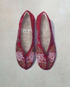 Embroidered Red Slippers