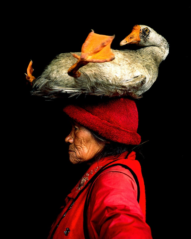Cristina Mittermeier Portrait Photograph - Lady with the Goose II