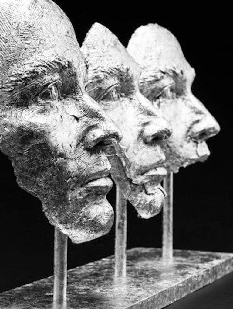 Boky Hackel-Ward Figurative Sculpture - Losing Myself In You (Platinum Leaf)