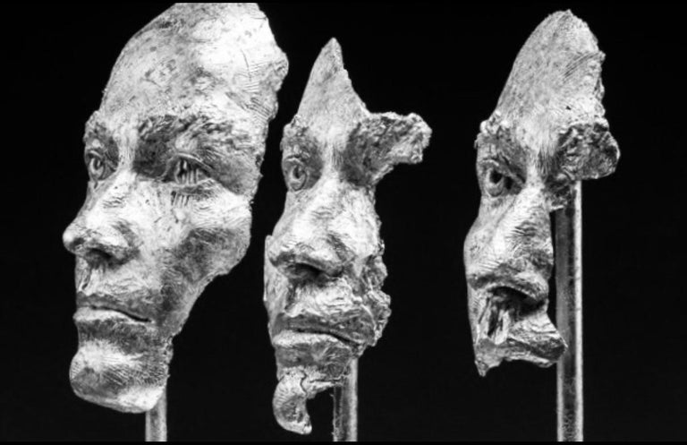 Losing Myself In You (Platinum Leaf) - Sculpture by Boky Hackel-Ward