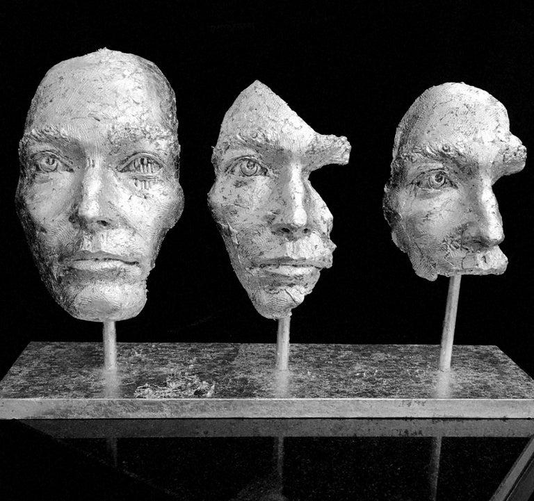 Losing Myself In You (Platinum Leaf) - Contemporary Sculpture by Boky Hackel-Ward