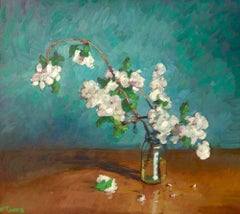 Apple Blossoms in Small Jar