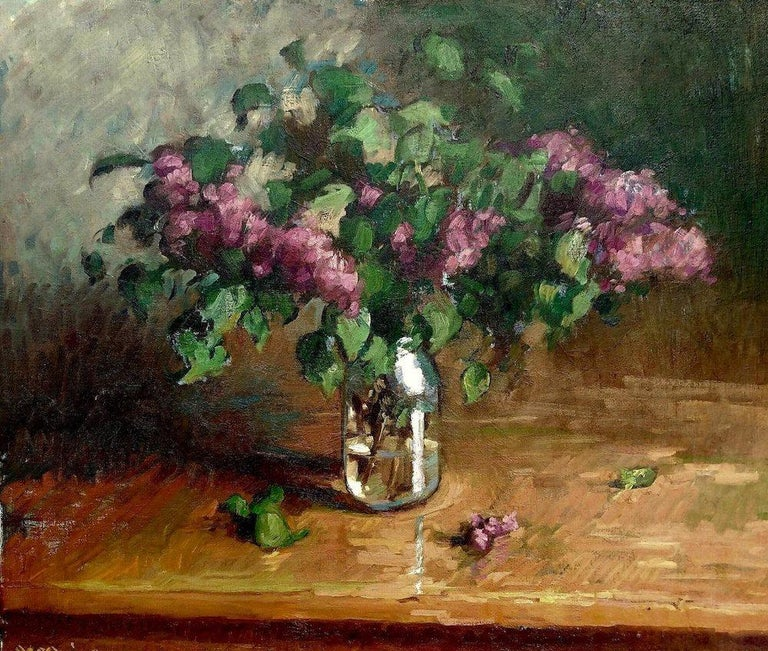 Tim McGuire Interior Painting - Lilacs in a Jar