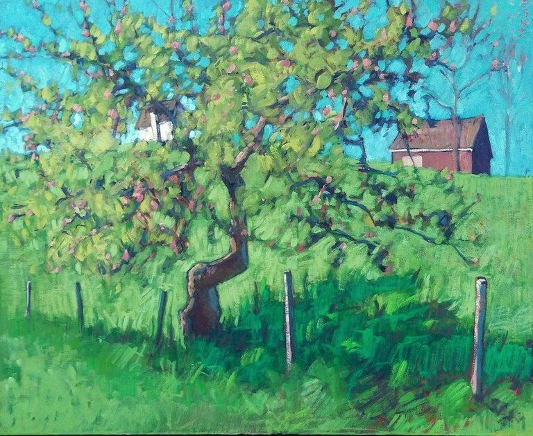 Tim McGuire Landscape Painting - The Little Apple Tree on the Farm