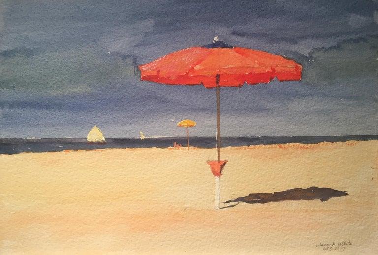Nelson H. White Landscape Art - The Red Umbrella