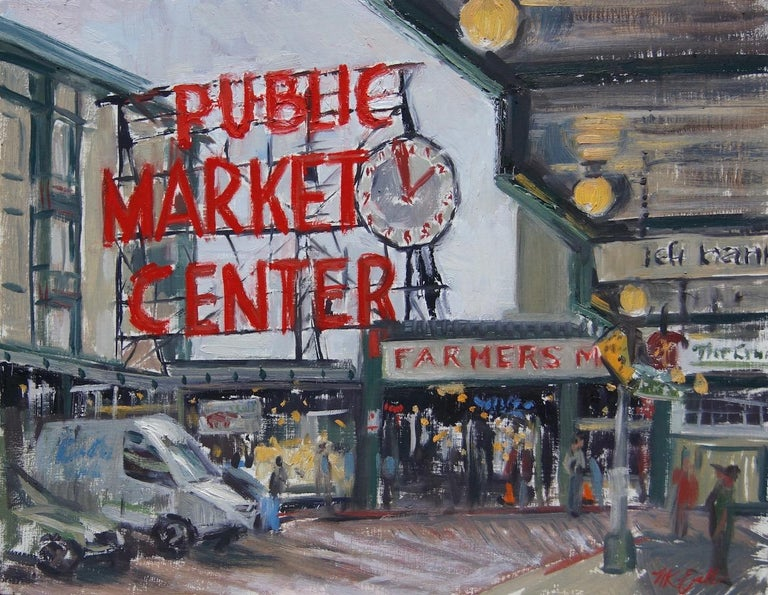 Megan Euell Figurative Painting - Pike Place Market