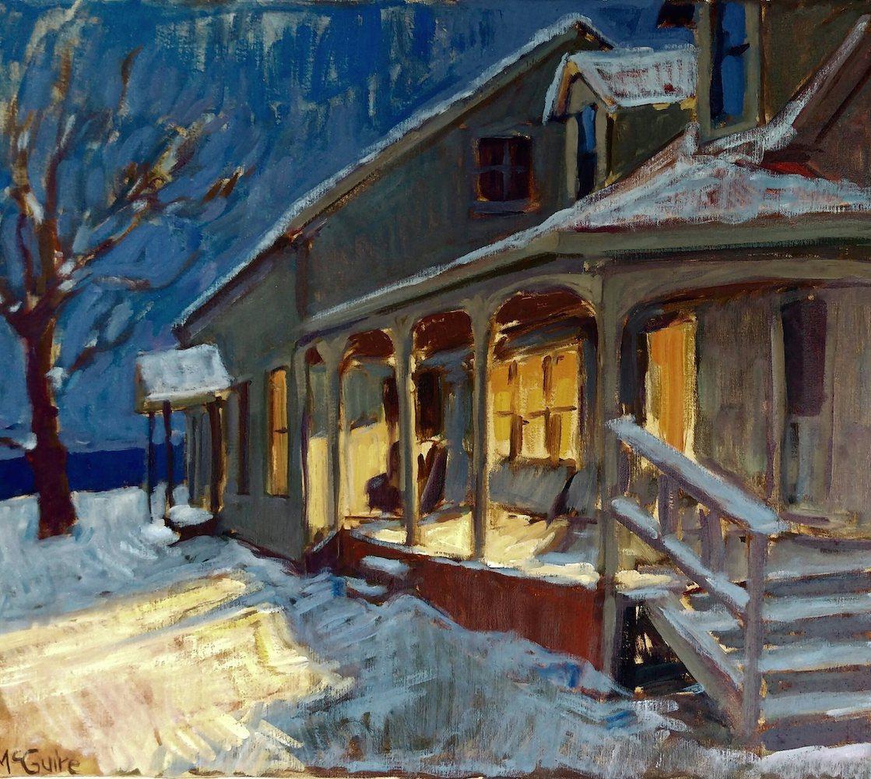 Vermont Homestead in Winter