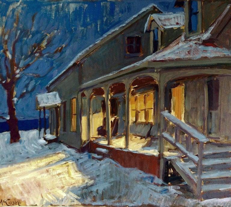 Tim McGuire Interior Painting - Vermont Homestead in Winter