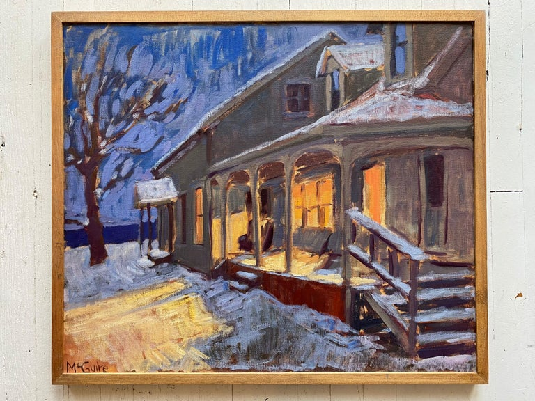 Vermont Homestead in Winter - Painting by Tim McGuire
