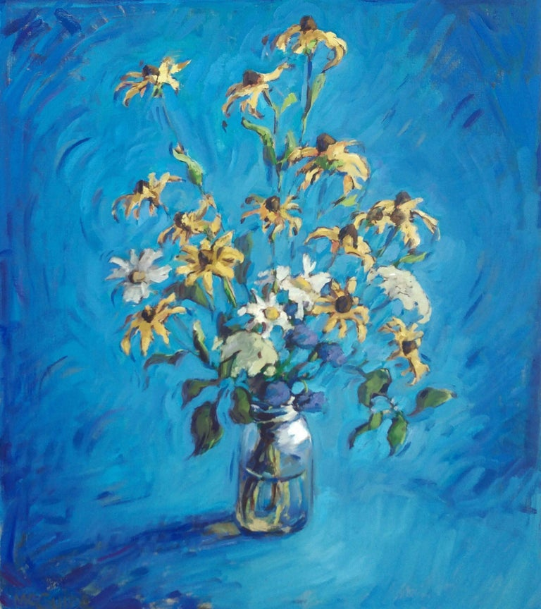 Tim McGuire Figurative Painting - Mostly Brown Eyed Susans