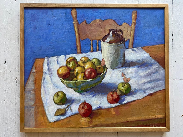 Apples in a Bowl - Painting by Tim McGuire