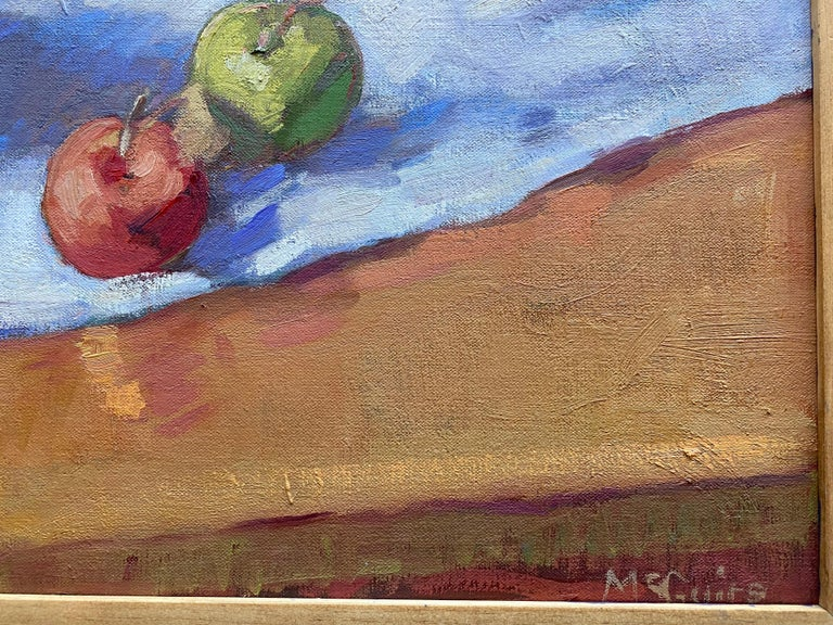 Apples in a Bowl - Gray Interior Painting by Tim McGuire