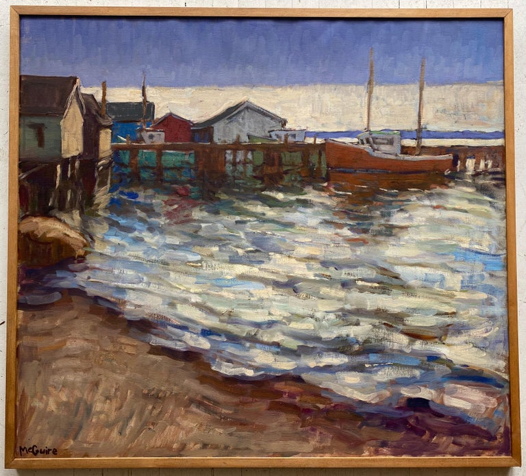 Tim McGuire Landscape Painting - Harbour Evening (Hunts Point)