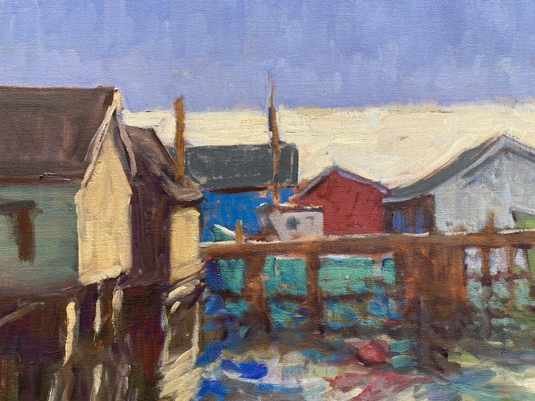 Painted from life in Nova Scotia, a dock in
