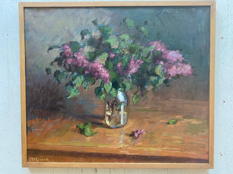 Lilacs in a Jar - Painting by Tim McGuire