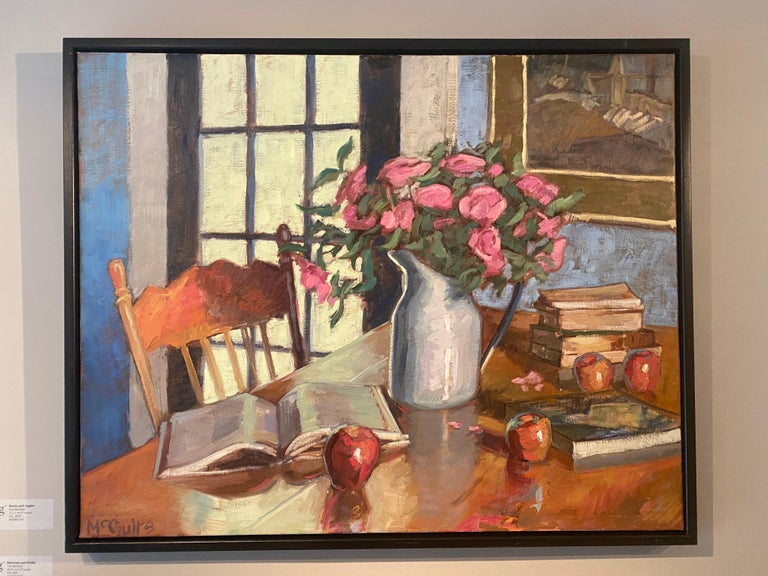 Books and Apples - Painting by Tim McGuire