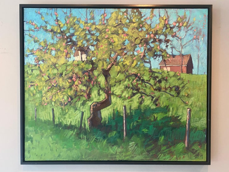 The Little Apple Tree on the Farm - Painting by Tim McGuire