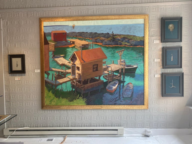 Fish Shacks, Big - Painting by Tim McGuire