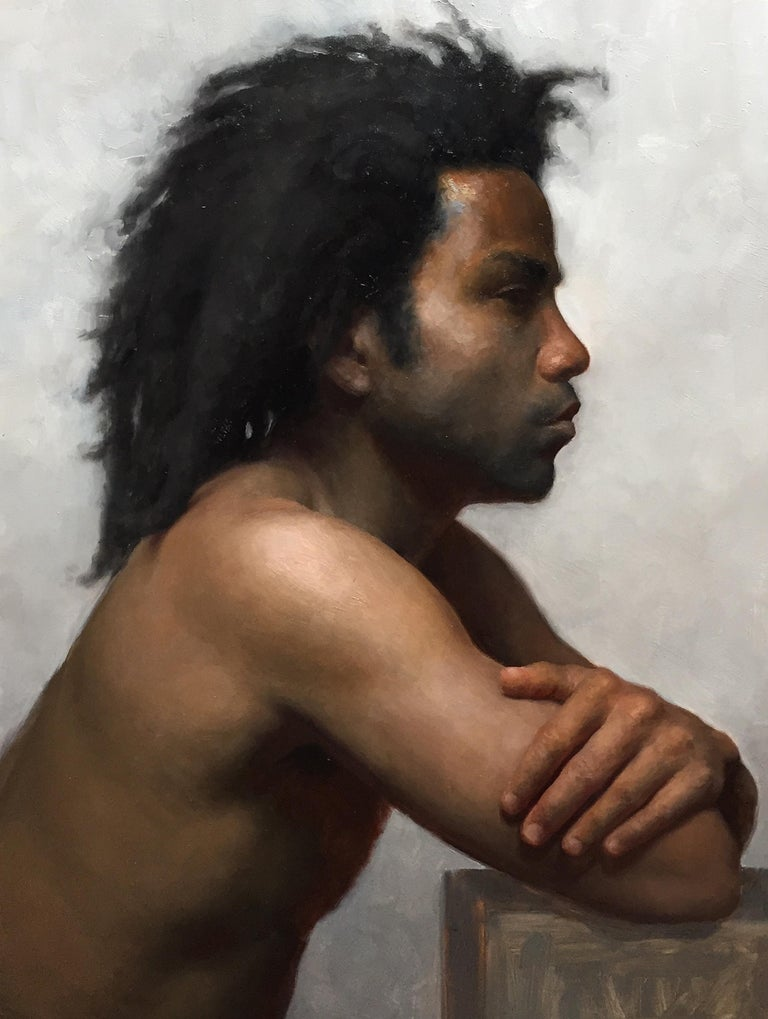 Jamaal in Profile - Painting by Patrick Byrnes