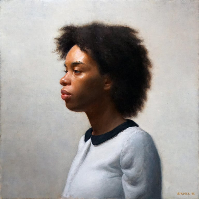 Patrick Byrnes Portrait Painting - Keshia in Profile