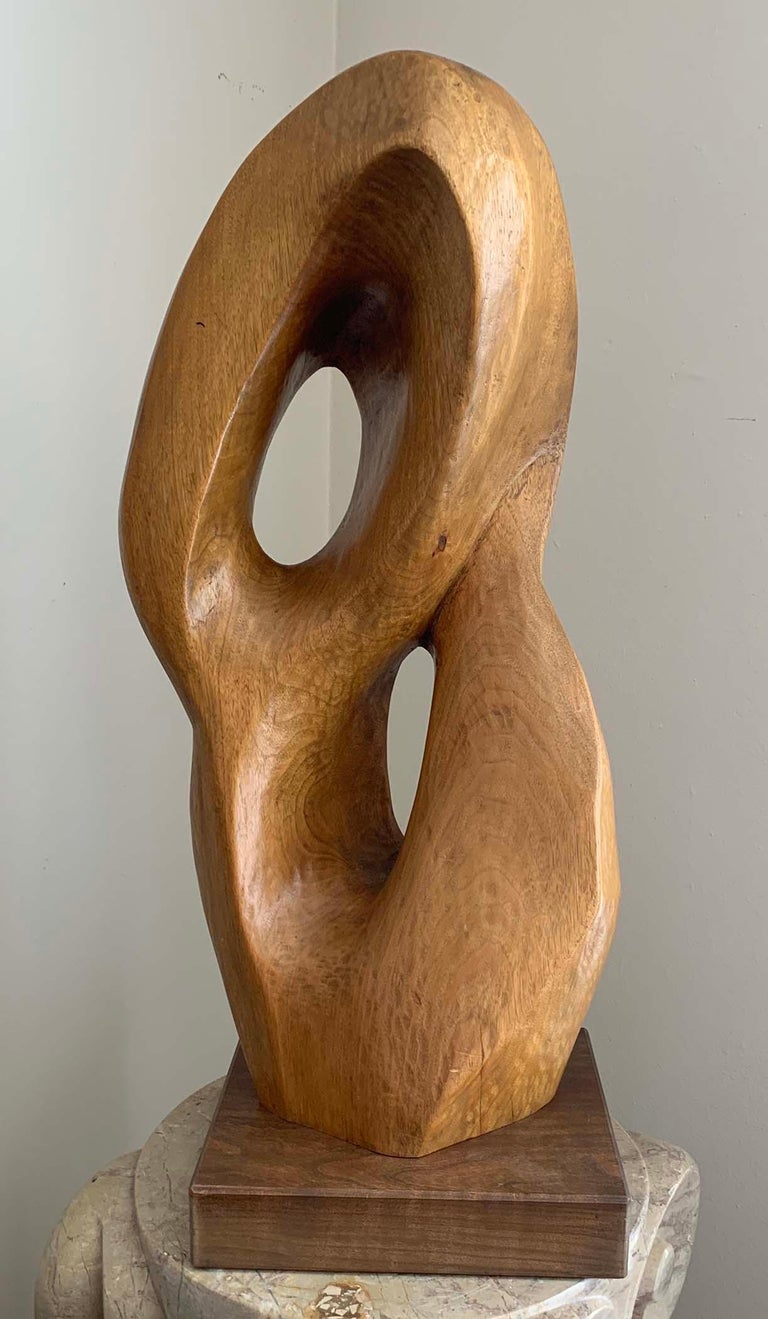 "SYLVIA JAFFE  ""ABSTRSTCT FORM""  WOOD, SIGNED  FLORIDA, DATED 1978  25 INCHES  ____________________________________  Sylvia Jaffe  2oth Century  Jaffe was an abstract sculptor working in Florida.  Jaffe studied in Pietrasanta, Italy, with the Walter"