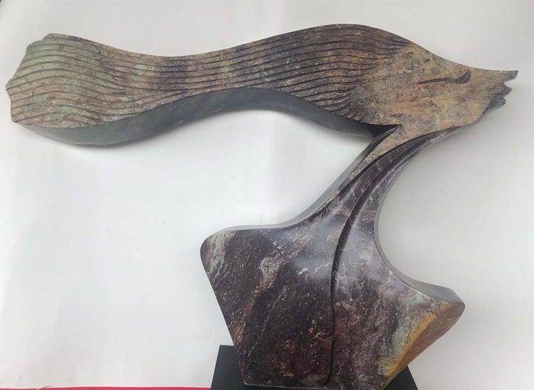 Tafunga Bonjisi Figurative Sculpture - Proud Wopman Shona