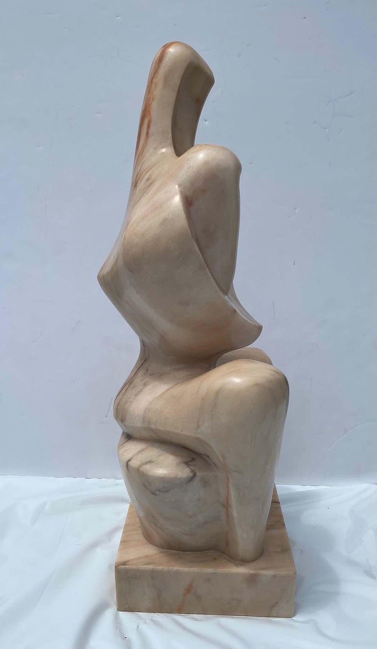 Mother and Child - Gray Figurative Sculpture by Albert Wein