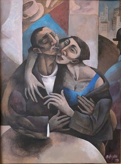 LOVERS AT THE CAFE