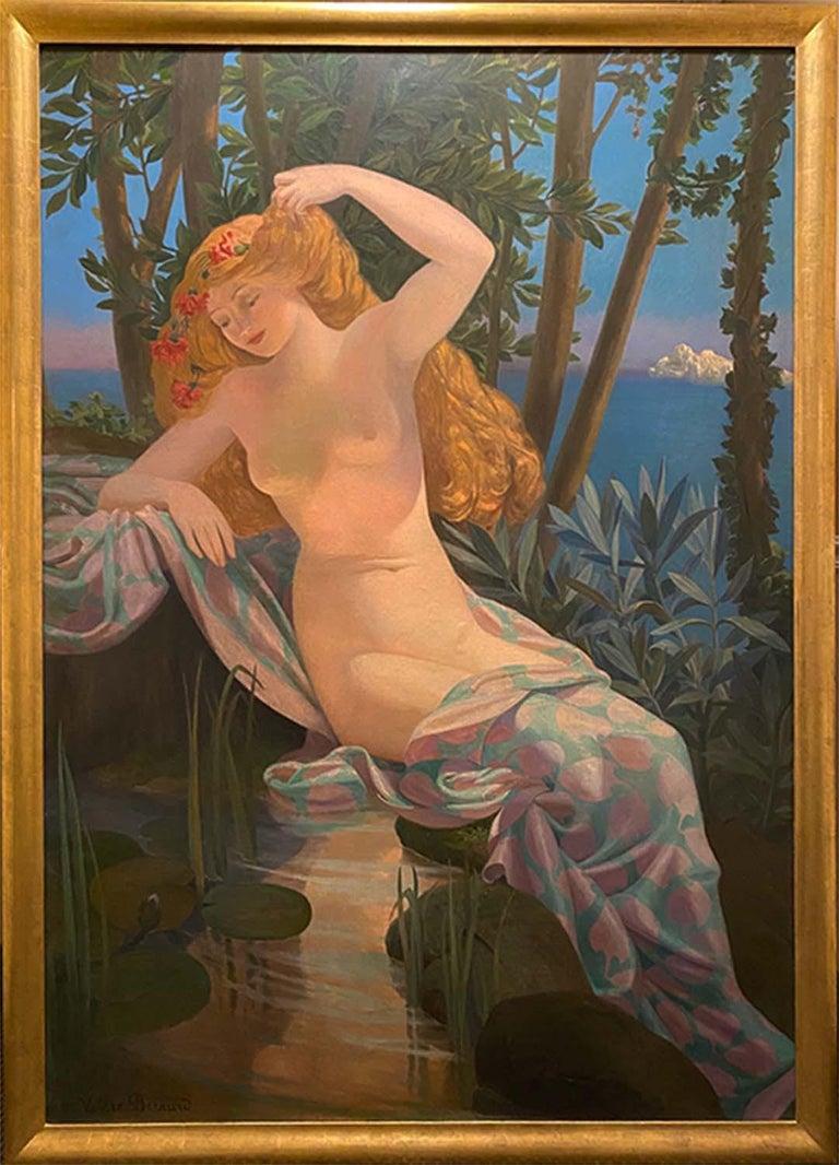 Allegory of Summer - Painting by  Valere Bernard