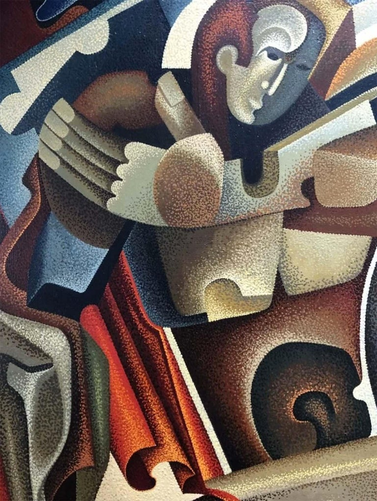 Man and Women - Cubist Painting by Anatoly Krynsky