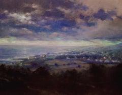 """Night View of Gairloch, Scotland"", Oil Landscape Painting by Richard Rosenblatt"