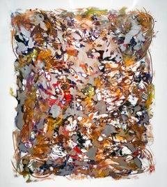 """Turbulence"", Abstract, Acrylic Painting on Aluminum Panel by Kevin Barrett"