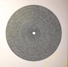 Gravitational Sapath Waves III, Halsey Chait, Large Abstract Drawing, Circle