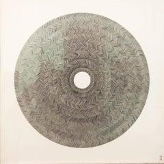 Gravitational Sapath Waves, Halsey Chait, Abstract Ink Drawing, Circle